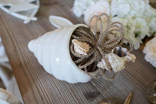 Conchiglia in ceramica bianca