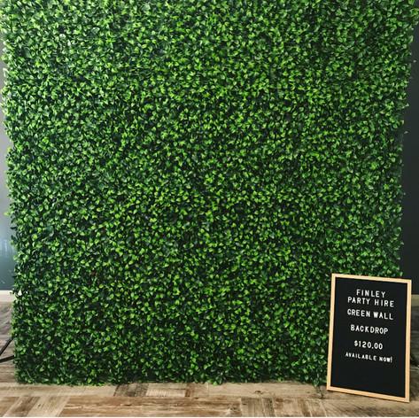 Green Wall Backdrop
