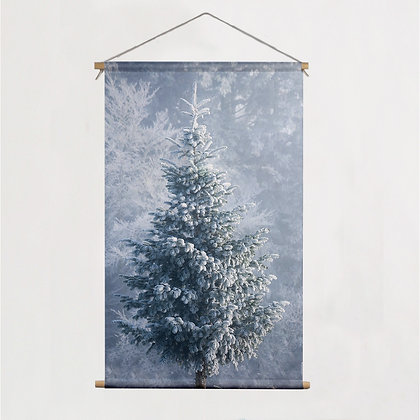 Canvas poster 'Witte kerst' 60 x 90 cm