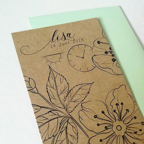 Kraftpapier + een minimalistisch ontwerp