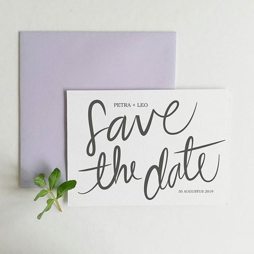 Een minimalistische Save the Date, voor