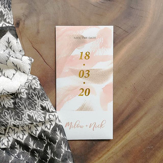 Paint Save The Date enkel 10x21