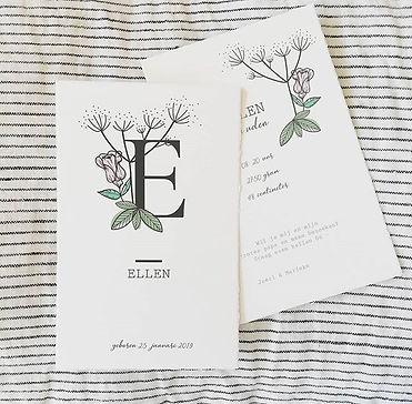 Lief he ❤️ het geboortekaartje van Ellen