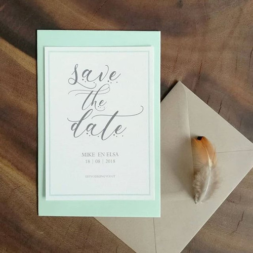 Deze Save the Date is helemaal lente pro