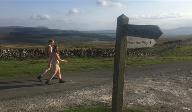 Two people hiking in yorkshire