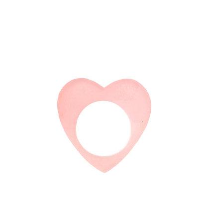 Πλέξιγκλας δαχτυλίδι Heart Pink