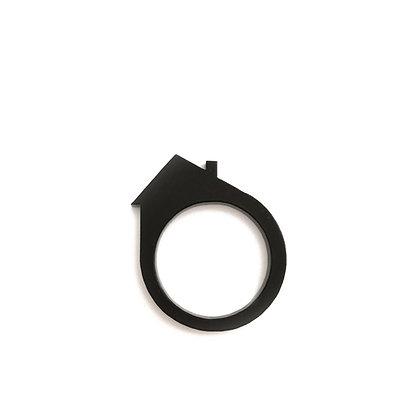 Πλέξιγκλας δαχτυλίδι House Black