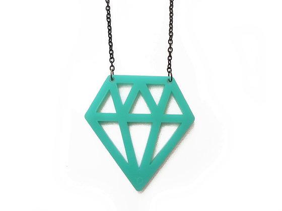 """Κολιέ από πλέξιγκλας """"Turquoise Diamond"""""""