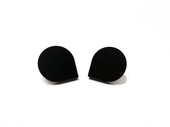 Σκουλαρίκια πλέξιγκλας BLACK DROPS