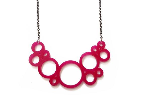"""Κολιέ από πλέξιγκλας """"Pink circles"""""""