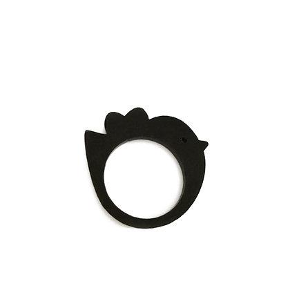 Πλέξιγκλας δαχτυλίδι Bird Black
