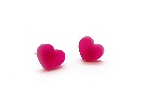 Πλέξιγκλας σκουλαρίκια PINK HEART