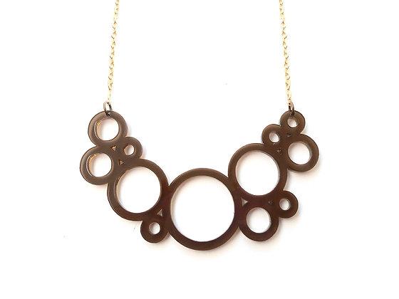 Πλέξιγκλας κολιέ Brown circles