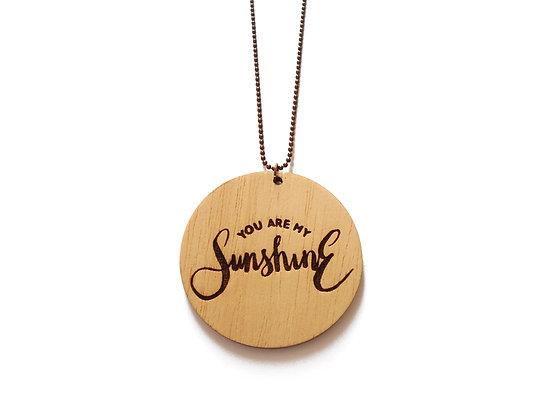 Ξύλινο κολιέ You are my Sunshine