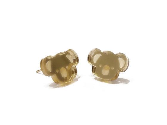 Πλέξιγκλας σκουλαρίκια GOLD COALA