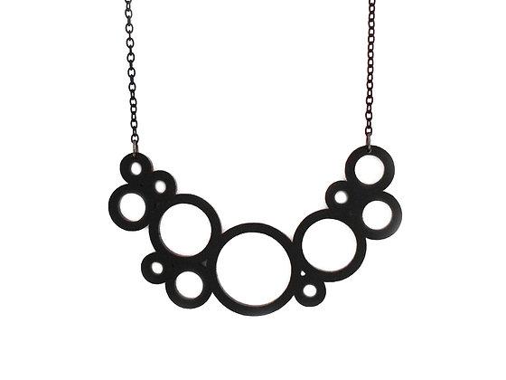 Πλέξιγκλας κολιέ Black circles
