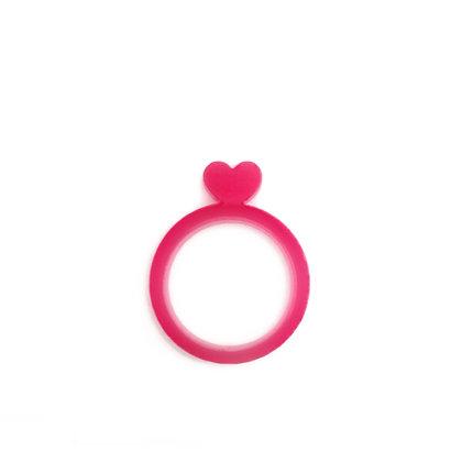 Πλέξιγκλας δαχτυλίδι Heart Magenta