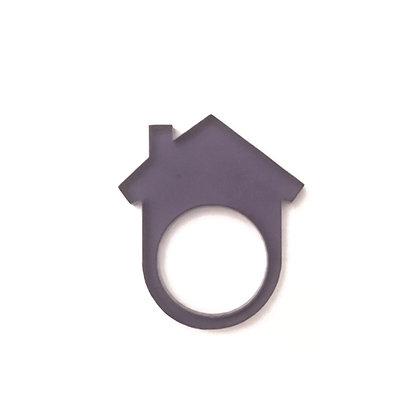 Πλέξιγκλας δαχτυλίδι Home Gray