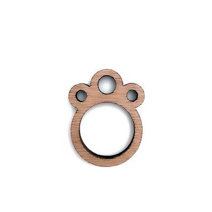 Ξύλινο δαχτυλίδι Circles