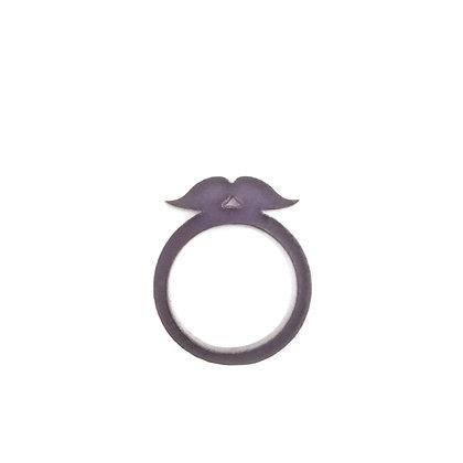 Πλέξιγκλας δαχτυλίδι Moustache Gray