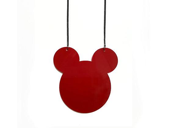 Πλέξιγκλας κολιέ Red Mickey Mouse