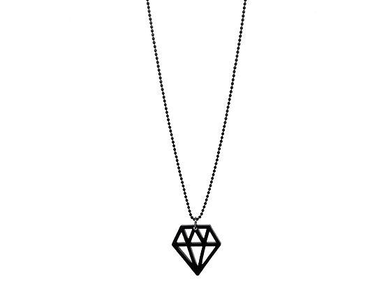 """Κολιέ από πλέξιγκλας """"Mini Diamond"""""""