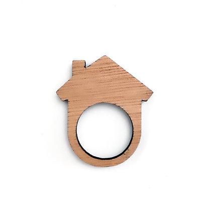 Ξύλινο δαχτυλίδι Home