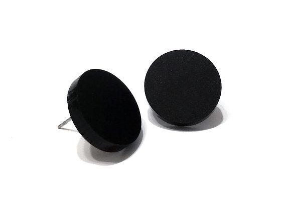 Πλέξιγκλας σκουλαρίκια BIG BLACK DOTS