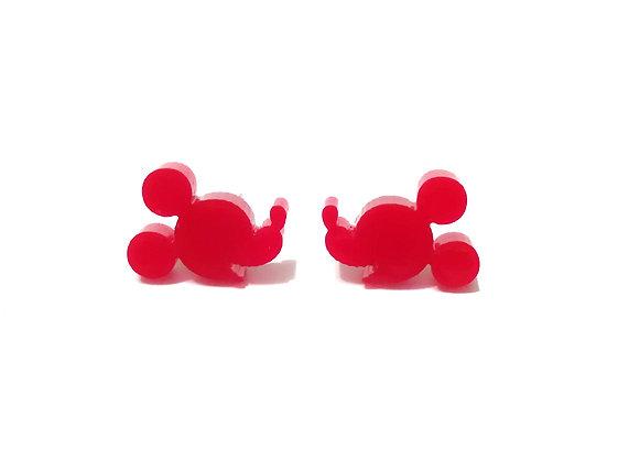 Πλέξιγκλας σκουλαρίκια RED MICKEY MOUSE FACE