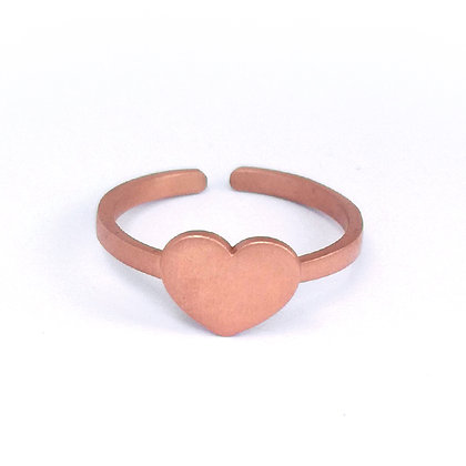 PINK GOLD PLATED SILVER HEART