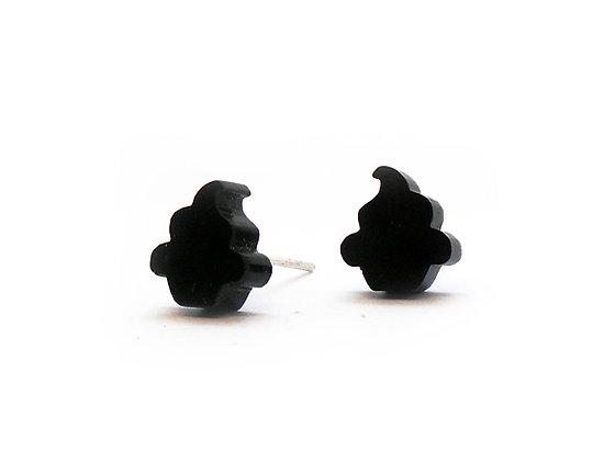 Σκουλαρίκια πλέξιγκλας BLACK CUPCAKES