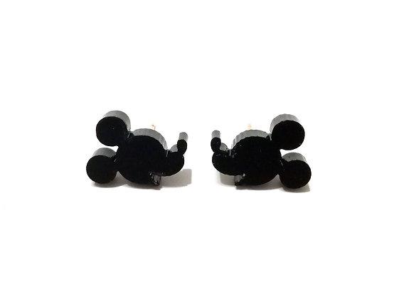 Πλέξιγκλας σκουλαρίκια BLACK MICKEY MOUSE FACE