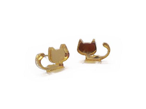 Πλέξιγκλας σκουλαρίκια GOLD CATS