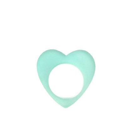 Πλέξιγκλας δαχτυλίδι Heart Turquoise