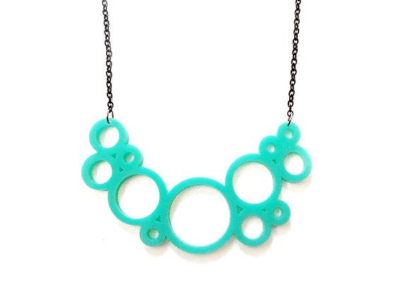 Πλέξιγκλας κολιέ Turquoise circles
