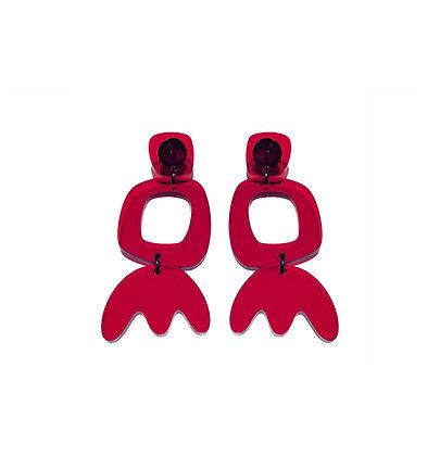 Πλέξιγκλας σκουλαρίκια RED ARTEMISIA