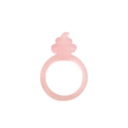 Πλέξιγκλας δαχτυλίδι Cupcake Pink