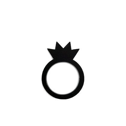 Πλέξιγκλας δαχτυλίδι Crown Black