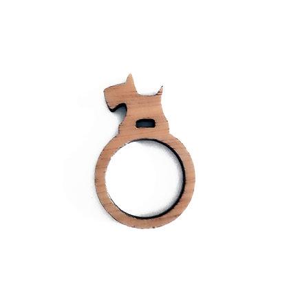 Ξύλινο δαχτυλίδι West Highland