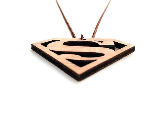 Ξύλινο κολιέ  Superman