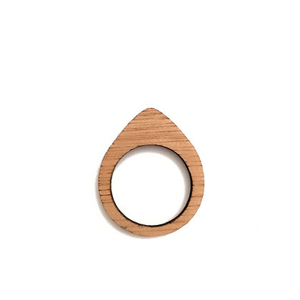 Ξύλινο δαχτυλίδι Drop