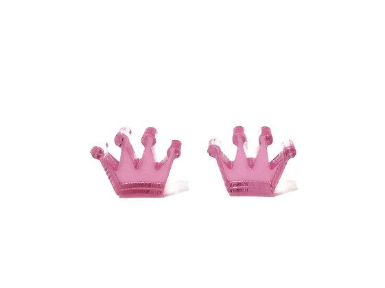 Σκουλαρίκια πλέξιγκλας PINK CROWNS