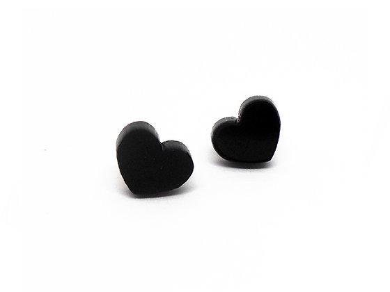 Πλέξιγκλας σκουλαρίκια BLACK HEARTS