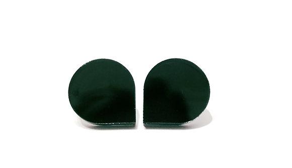Σκουλαρίκια πλέξιγκλας GREEN DROPS
