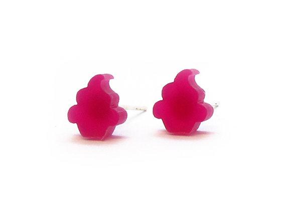 Πλέξιγκλας σκουλαρίκια PINK CUPCAKES