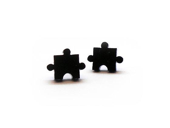 Πλέξιγκλας σκουλαρίκια BLACK PUZZLES