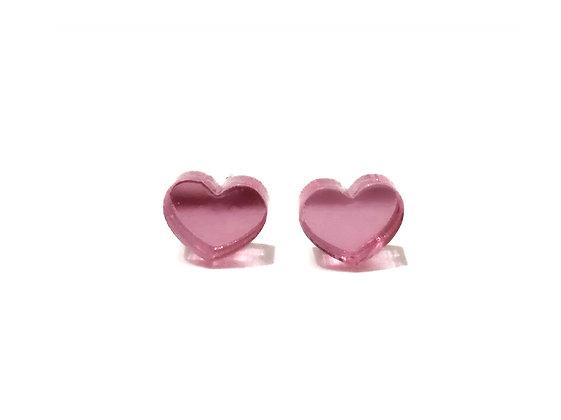 Πλέξιγκλας σκουλαρίκια PINK HEARTS