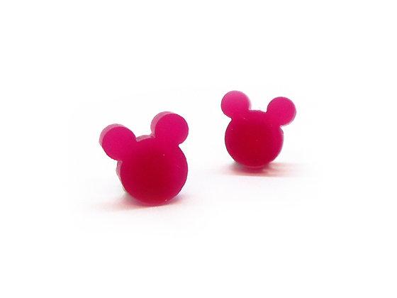 Πλέξιγκλας σκουλαρίκια PINK MICKEY MOUSE