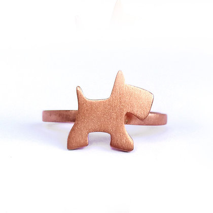 PINK GOLD PLATED SILVER WOOF