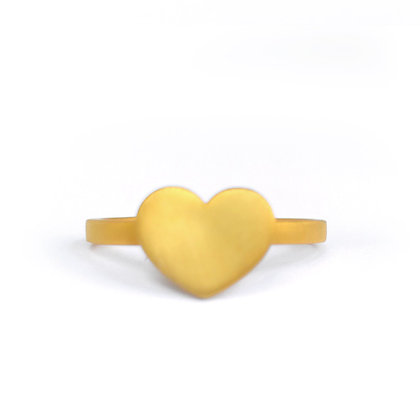 GOLD PLATED SILVER HEART